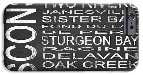 Creek Mixed Media iPhone Cases - SUBWAY Wisconsin State Square iPhone Case by Melissa Smith