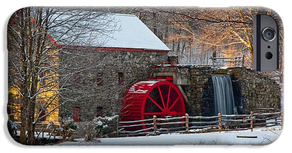 Grist Mill iPhone Cases - Sudbury Gristmill iPhone Case by Susan Cole Kelly