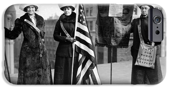 Protesters iPhone Cases - SUFFRAGETTES, c1910 iPhone Case by Granger