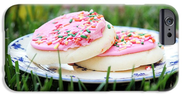 Cookie iPhone Cases - Sugar Cookies with Sprinkles iPhone Case by Linda Woods
