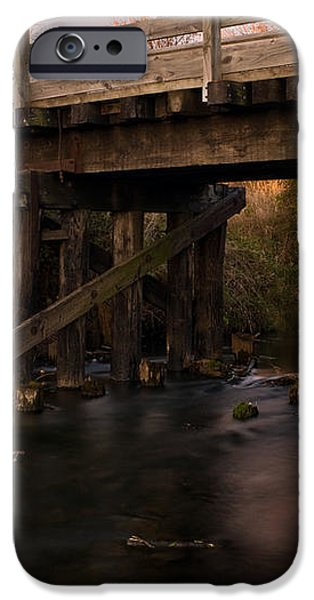 Sugar River Trestle Wisconsin iPhone Case by Steve Gadomski