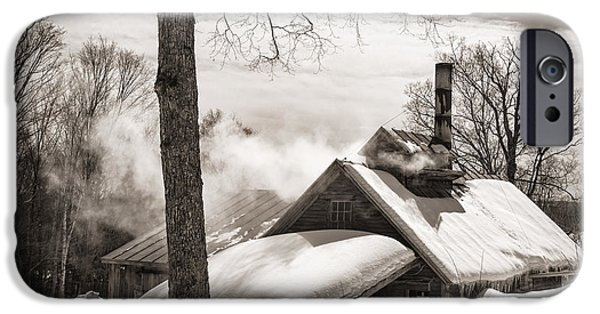 Winter Scene iPhone Cases - Sugar Shack  iPhone Case by Alana Ranney
