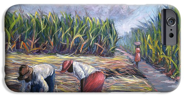 Harvest Time iPhone Cases - Sugarcane Harvest iPhone Case by Carlton Murrell
