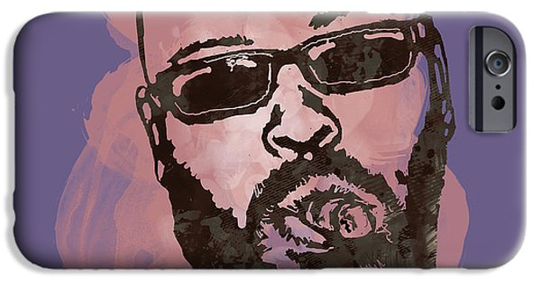American ist Mixed Media iPhone Cases - Suge Knight Pop Stylised Art Sketch Poster iPhone Case by Kim Wang