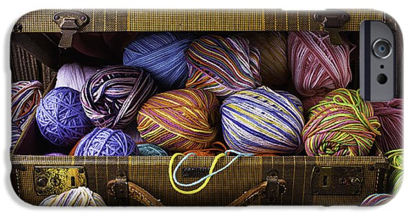 Interlocked iPhone Cases - Suitcase Full Of Yarn iPhone Case by Garry Gay