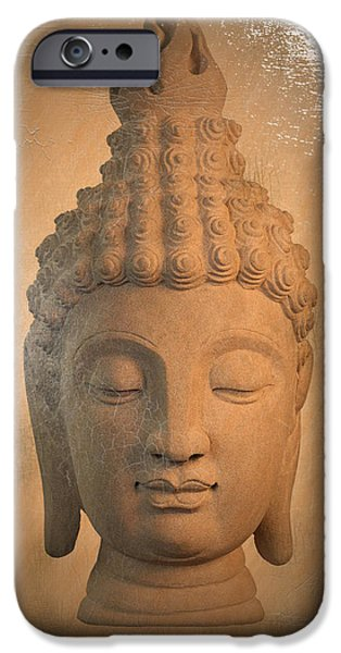 Buddhist iPhone Cases - Sukhothai Antique Oil Paint Effect 2 iPhone Case by Terrell Kaucher