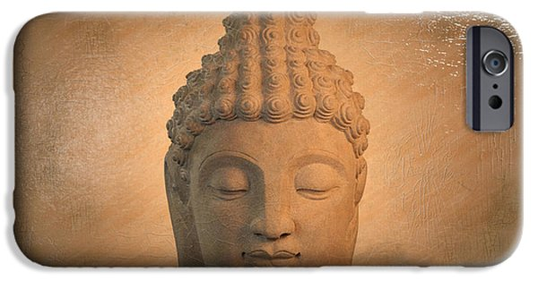 Buddhist Sculptures iPhone Cases - Sukhothai Antique Oil Paint Effect iPhone Case by Terrell Kaucher