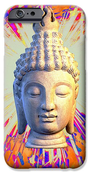 Buddhist Sculptures iPhone Cases - Sukhothai Colorful b iPhone Case by Terrell Kaucher