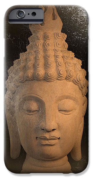 Buddhist Sculptures iPhone Cases - Sukhothai oil paint effect  iPhone Case by Terrell Kaucher