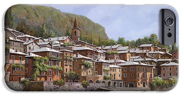 Village iPhone Cases - Sul Lago di Como iPhone Case by Guido Borelli