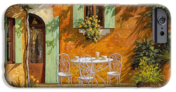 Vase iPhone Cases - Sul Patio iPhone Case by Guido Borelli