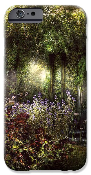 Summer - Landscape - Eve's Garden iPhone Case by Mike Savad