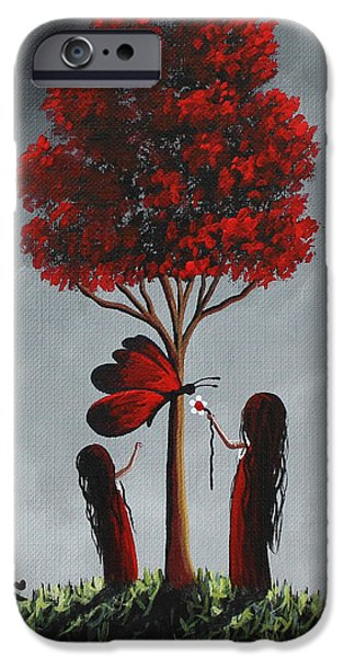 Red Abstract iPhone Cases - Summer Art Print iPhone Case by Shawna Erback