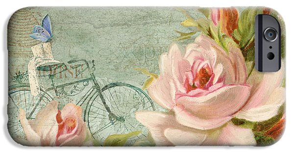 Jersey Shore Paintings iPhone Cases - Summer at Cape May - Bicycle iPhone Case by Audrey Jeanne Roberts