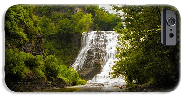 Ithaca iPhone Cases - Summer at Ithaca Falls iPhone Case by Jessica Jenney