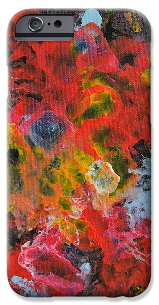 Contemporary Abstract iPhone Cases - Summer Bouquet iPhone Case by James Pinkerton