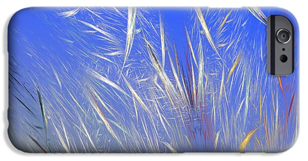 Flame Fractal iPhone Cases - Summer Breeze iPhone Case by David Lane
