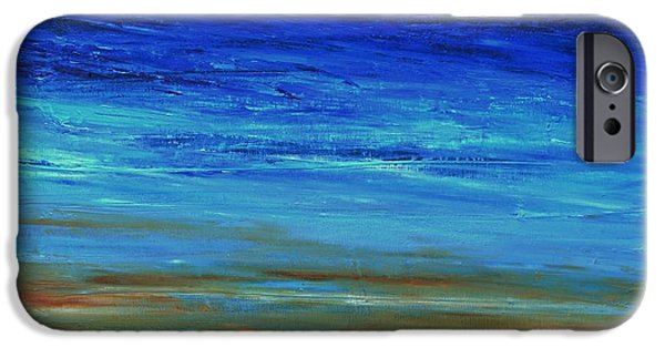 Abstract Seascape iPhone Cases - Summer Coast iPhone Case by Dimitra Papageorgiou