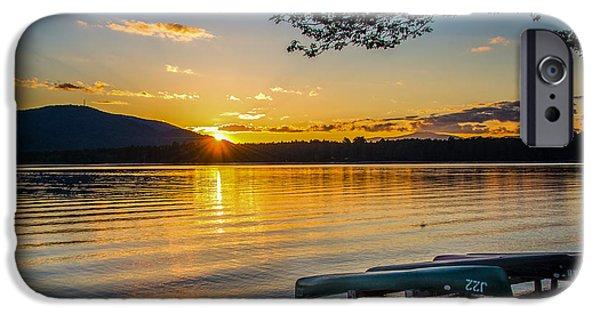 Canoe iPhone Cases - Summer Cruise iPhone Case by Mary Koenig Godfrey