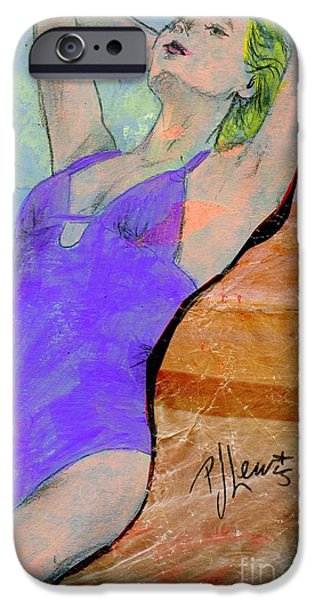 Bathing Mixed Media iPhone Cases - Summer dreaming iPhone Case by P J Lewis