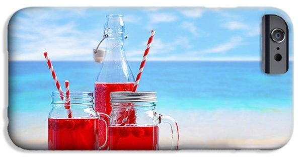 Berry iPhone Cases - Summer Drinks At The Beach iPhone Case by Amanda And Christopher Elwell