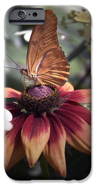 Invertebrates Mixed Media iPhone Cases - Summer Floral With Butterfly 03 Vertical iPhone Case by Thomas Woolworth