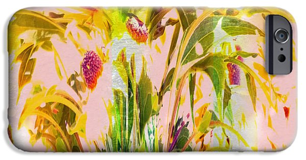 Berry iPhone Cases - Summer Garden Abstract iPhone Case by Lyn  Perry