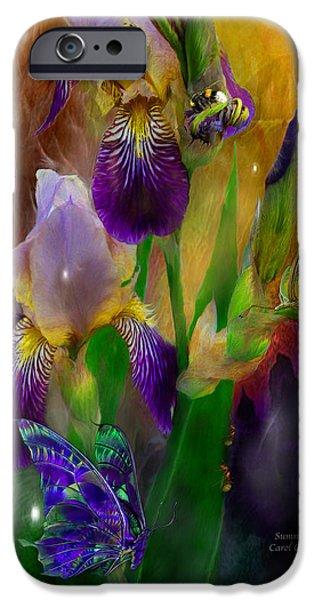 Flora Mixed Media iPhone Cases - Summer Life iPhone Case by Carol Cavalaris