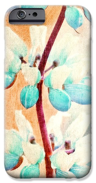 Abstract Digital iPhone Cases - Summer Lupine iPhone Case by Bonnie Bruno