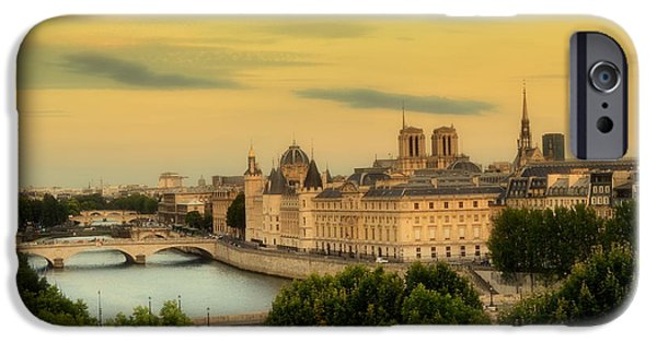 Business Photographs iPhone Cases - Summer Morning In Paris iPhone Case by Marla McPherson