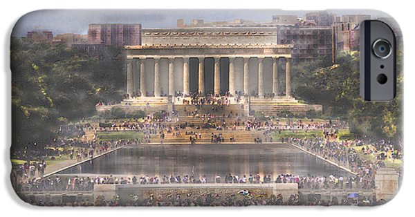 Lincoln iPhone Cases - Summer on Lincoln Memorial  iPhone Case by Mark Stephens
