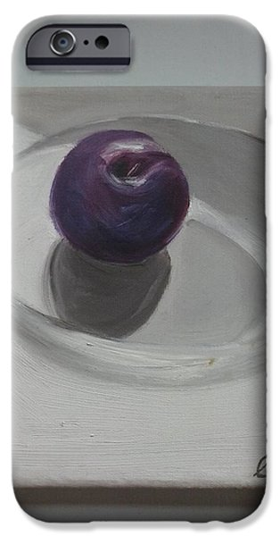 Still Life Tapestries - Textiles iPhone Cases - Summer Plum iPhone Case by Lisa LaMonica