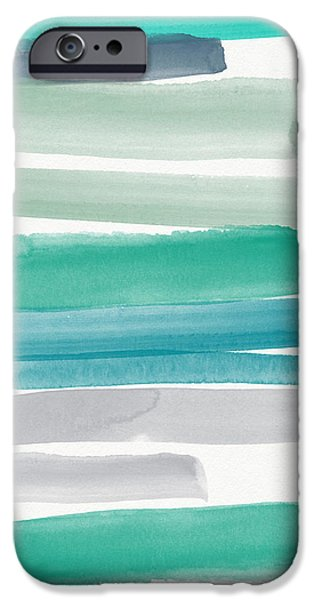Abstracted iPhone Cases - Summer Sky iPhone Case by Linda Woods