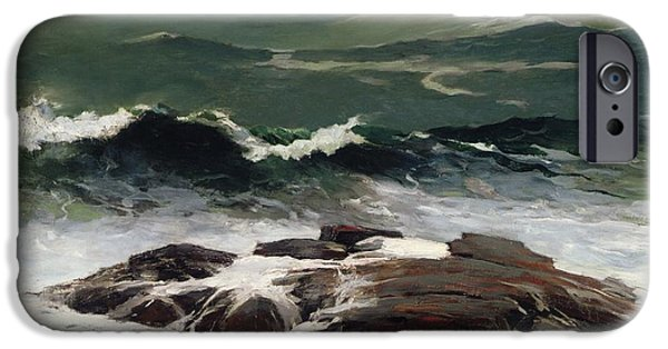 Power iPhone Cases - Summer Squall iPhone Case by Winslow Homer