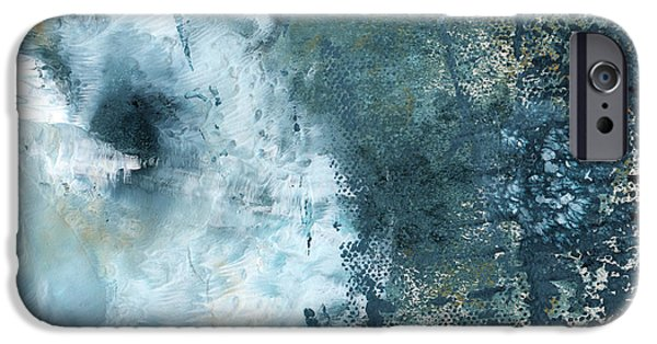 White House iPhone Cases - Summer Storm- Abstract Art by Linda Woods iPhone Case by Linda Woods