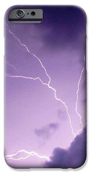 Electrical iPhone Cases - Summer Storm iPhone Case by Shawna  Rowe