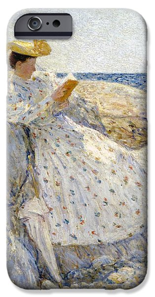 Childe iPhone Cases - Summer Sunlight iPhone Case by Childe Hassam