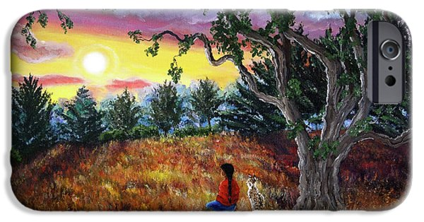 Lynx iPhone Cases - Summer Sunset Meditation iPhone Case by Laura Iverson