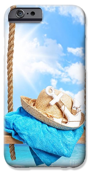 Beach Towel iPhone Cases - Summer Swing iPhone Case by Amanda And Christopher Elwell