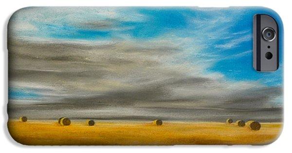 Field. Cloud Pastels iPhone Cases - Summer Vastness iPhone Case by Alexandra Lavizzari