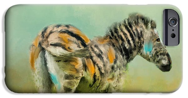 Nature Abstract iPhone Cases - Summer Zebra 1 iPhone Case by Jai Johnson
