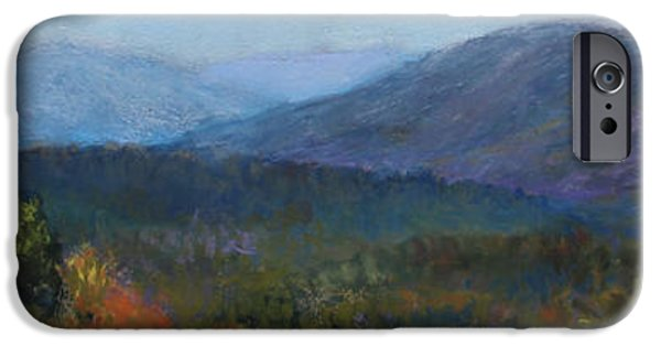 Mountain Pastels iPhone Cases - Summers Retreat iPhone Case by Susan Jenkins