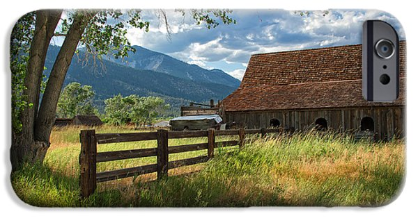 Old Barns iPhone Cases - Summertime at the Ranch iPhone Case by Dianne Phelps