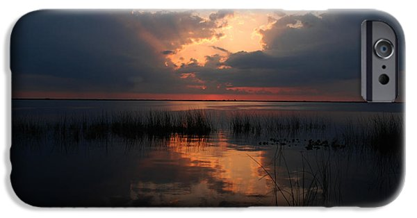 Behind The Scenes Photographs iPhone Cases - Sun behind the clouds iPhone Case by Susanne Van Hulst