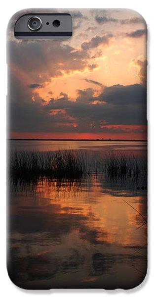Sun behind the clouds iPhone Case by Susanne Van Hulst