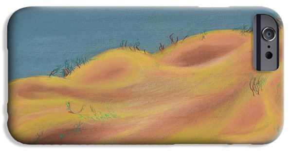 Sand Dunes Pastels iPhone Cases - Sun Bowls iPhone Case by Walter James Artist