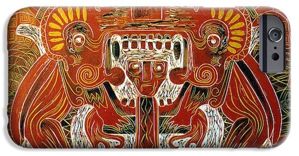 Serpent iPhone Cases - Sun God    1 of 6 iPhone Case by Pamela Iris Harden