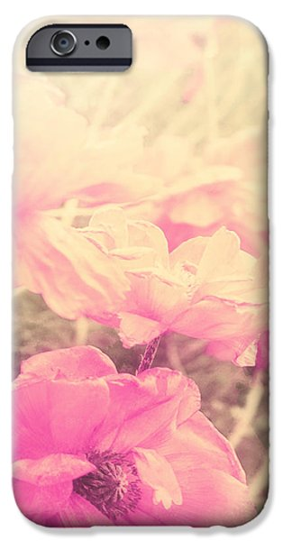 California Poppies iPhone Cases - Sun Haze Poppies iPhone Case by Mindy Sommers