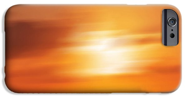 North Sea iPhone Cases - Sun Impressions iPhone Case by Angela Doelling AD DESIGN Photo and PhotoArt