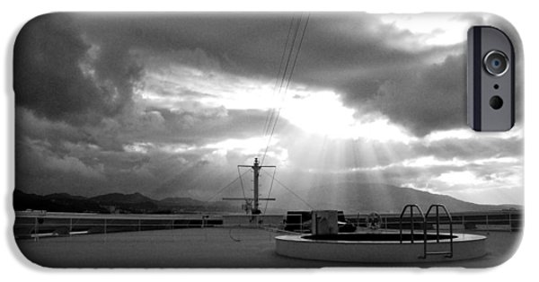 Epic iPhone Cases - Sun Is Just Breaking Through As We Reach Our First European Port  iPhone Case by David Coleman